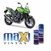 Tinta Spray Automotiva Kawasaki Verde Perol + Verniz 300ml