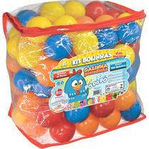 Kit Com 100 Bolinhas Piscina De Bolinhas Galinha Pintadinha