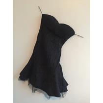 Vestido Negro Nuevo De Noche Elegante Talla 34