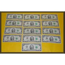 Billetes De 2 Dolares Usa Dos Dollares