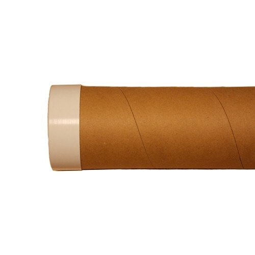 Tubo De Cartón C Tapas Para Embalaje De Cañas Varias Medidas 100