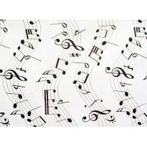 Toalha De Tnt Retangular Notas Musicais 1,40m X 2,00m
