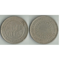 1 Moeda - Brasil - 200 Reis - 1889