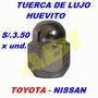 Tuercas De Lujo Cromada Baja Toyota Nissan