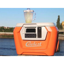Hielera Coolest Cooler Equipada Bocina Licuadora Camping