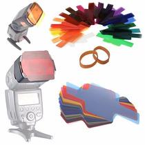 Kit 20 Filtros Correctores - Creativos De Gel Para Flash