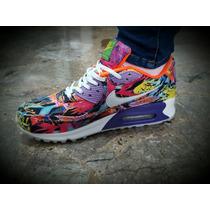 Zapatillas Nike Air Max 90 Dama Floreadas