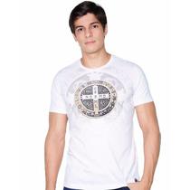 Camiseta Blusa Católica Religiosa Ágape Medalha D São Bento