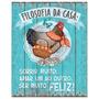 Placas Decorativas Mdf Galinha - Retrô Vintage Nasil-001
