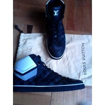 Zapatillas Tipo Botín Louis Vuitton Talla 9 Negras