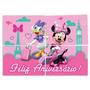Painel Cartonado 4 Partes Minnie Rosa Decoração De Festa