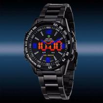 Relógio Pulso Weide Sports Led Digital Analógico Wh-1009-b-5