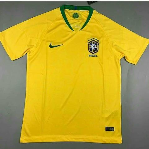 Camisa Seleção Brasileira Brasil Copa 2018 Sem Número Jogo - R  69 ... ea82ca15fcaf6