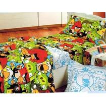 Sabanas Angry Birds-sabanas Infantiles 1 1/2 Plaza