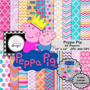 Kit Imprimible Pack Fondos Peppa Pig 40 Clipart