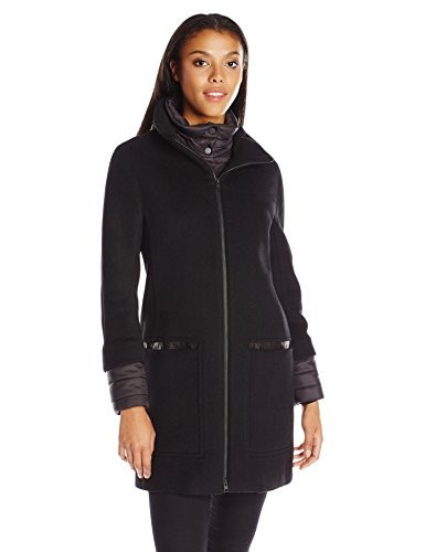 9b82e3cd5 Para Lana Y De Letizia Negro Kyo Soia S Mujer Abrigo 4qPqU