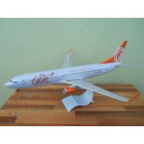 Avião Boeing 737-800w Gol Gol+ 38cm Miniatura Maquete