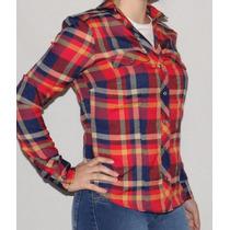 Camisas Mujer Escocesa Estampada Larga Octanos - Nicocia