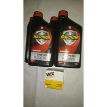 Oleo 20w50 Sj Havoline Kit 5 Litros+filtro Monza/corsa/celta