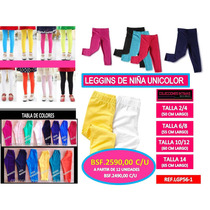 Leggins De Niña 100% Algodon Mayor Y Detal 2/4/6/8/10/12/14