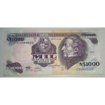 Billete De Uruguay 1000 Nuevos Pesos *026