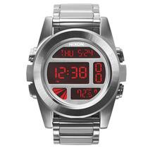 Relógio Masculino Nixon Unit Ss Silver Red