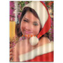 Postal 3d Joven Mujer Vestida De Navidad