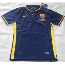 Oferta Camiseta Tipo Polo Barcelona Azul Marino 2015-16