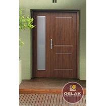Puerta Y Media Residencial Oblak Eterna 1108 Wengue O Cedro