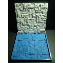 Forma Silicone Mosaico 3d Gesso Retalhos 30x30 Cm
