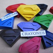 Crayones - Souvenirs - Superheroes - Superman - Pack X 24
