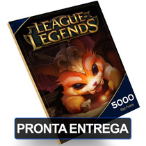 Cartão League Of Legends 5.000 Riot Points Rps Lol Card Br