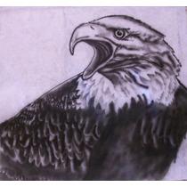 Águila_aerografía_papel Pellón