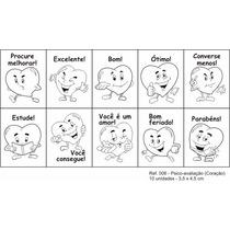 Carimbo Pedagógico Psico Avaliação Coração - 10 Unidades 06