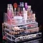 Organizador Porta Maquiagem Pincel Batom Acrílico 4 Gavetas