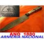 Cuchillo Armeria Nacional Año 1880 Sarandi 250 Plateria