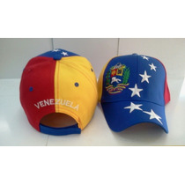 Gorras Tricolor De La Bandera De Venezuela.