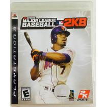 Mlb Major League Baseball 2k8 Ps3 Mídia Física