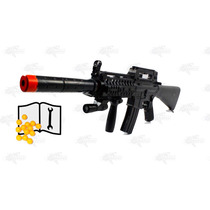 Marcadora Airsoft Spring M16 A12 Mira Bb 6mm Xtreme
