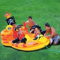 Piscina Play Ground Inflável Navio Pirata Infantil + Bomba