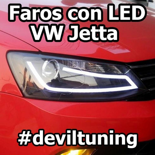 faros led vw jetta a6 mk6 hid xenon tuning 2017 gli oem leds 7 en mercado libre. Black Bedroom Furniture Sets. Home Design Ideas