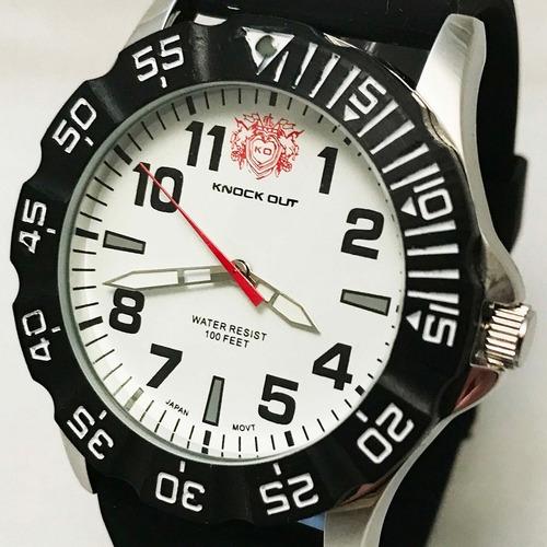 c09098c60b79 Reloj Knock Out Hombre Caballero Cuero Metalico 8464 -   899