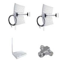 Kit 2 Antenas Novas 25db Em Um Rádio Wr2500 1000mw +conector