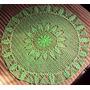 025 Crm Toalha Centro De Mesa Redonda De Crochê Linha Verde