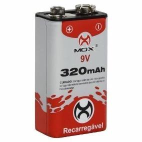 d4555a740d6 Bateria Mox 9v Recarregável 320mah - Brinquedo Radio Relogio - R  24 ...