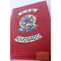 Porta Funcional Cheques Notas Oab Advogado Couro Brasão C69v