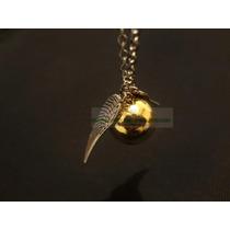 Collar Snitch Dorada Harry Potter. Envio Gratis!