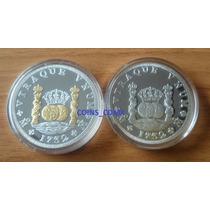 2 Columaria Oz Proof Plata Y Plata Chapa De Oro Nuevas Cm