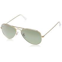 Gafas Ray-ban Rb3025 Aviator Sunglasses Marco Del Oro / Len