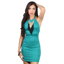 Mishka: Vestido Crochet Verde. Entrega Inmediata